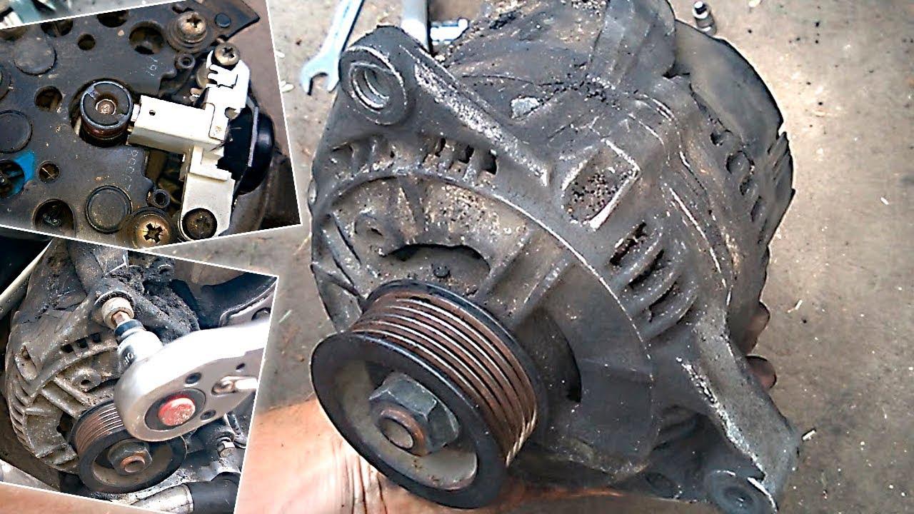 снятие и установка генератора audi a4 v6