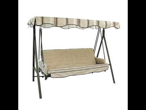 Lowes Patio Swing Cushions, Seat Support And Canopy Fabric Replacement