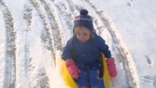 Toddler Sled - Toddler on a sled