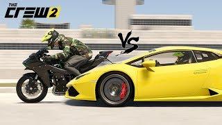The Crew 2 - Lamborghini Huracan vs Kawasaki ninja H2