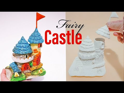 DIY Fairy Castle Craft Using Jar, Toilet Roll Tube and Best Homemade Clay