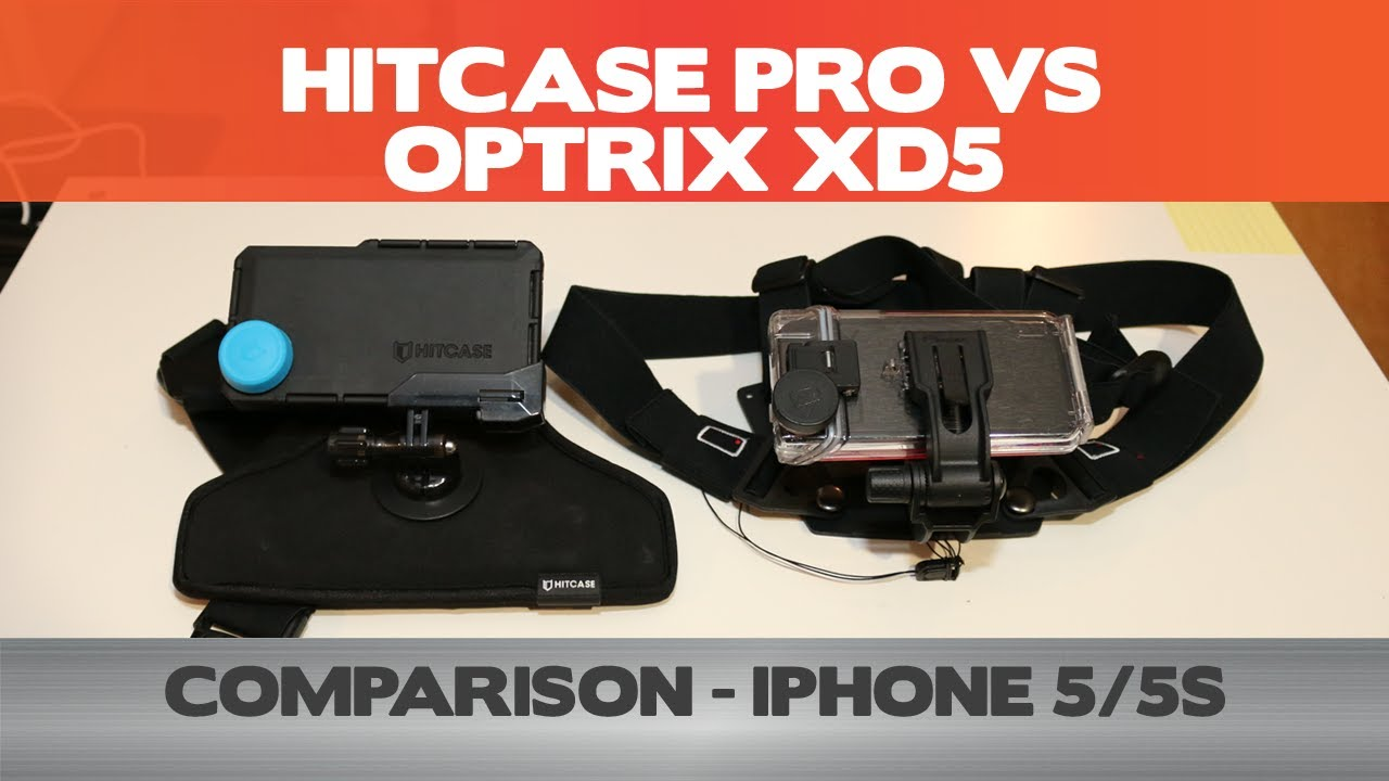 huge selection of d88a7 55321 iPhone Action Cases - HitCase Pro vs. Optrix XD5 - Comprehensive Comparison