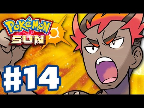 Pokemon Sun and Moon - Gameplay Walkthrough Part 14 - Kiawe's Island Trial! (Nintendo 3DS)