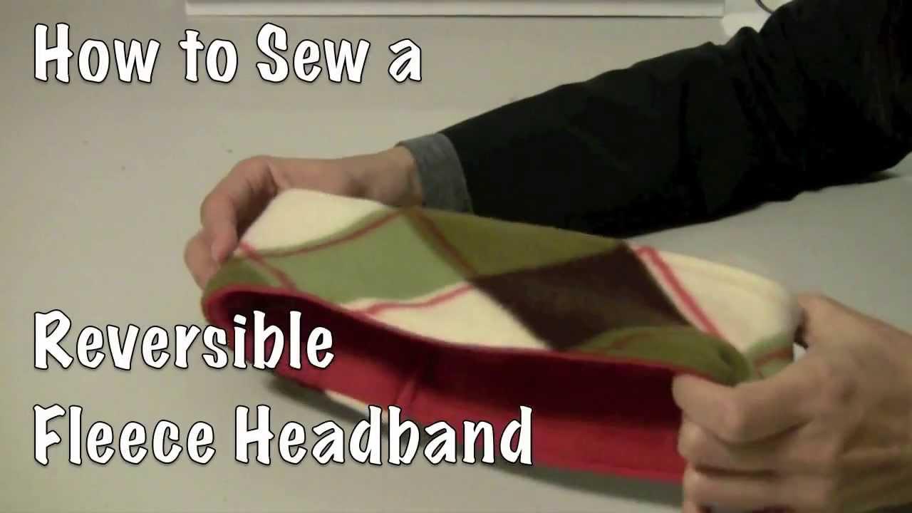How to Sew a Reversible Fleece Headband DIY  YouTube