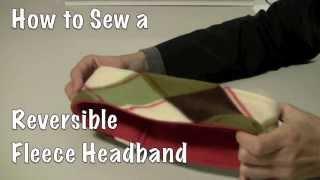 How to Sew a Reversible Fleece Headband DIY
