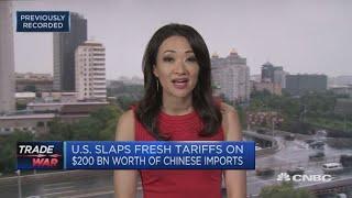 US slaps fresh tariffs on $200 billion worth of Chinese imports | Squawk Box Asia