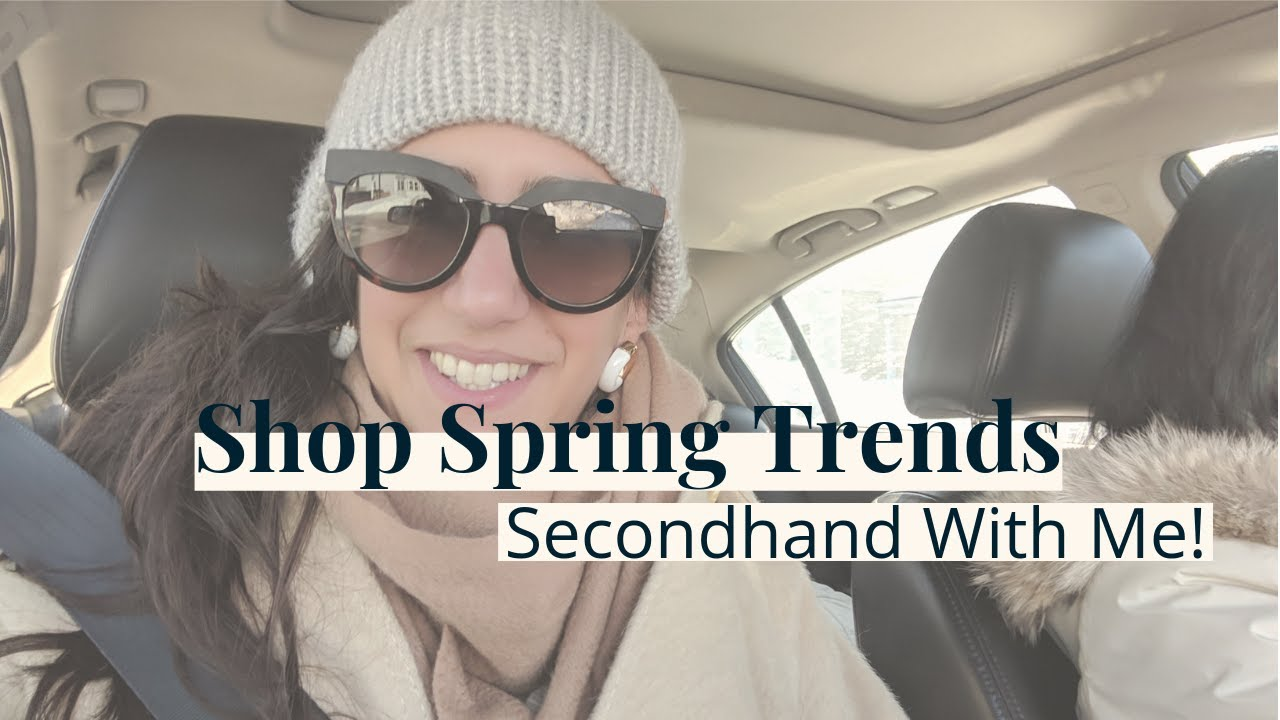 How to Shop Spring 2019 Trends Secondhand - Come With Me! | vintage + thrift shopping 7