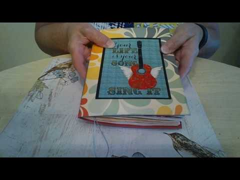 junk journal with a music theme