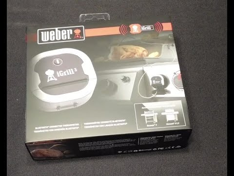 Weber iGrill 3 Bluetooth Thermometer Unboxing - YouTube