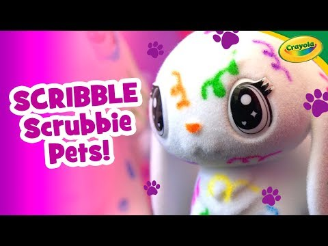 Color, Rinse, and Repeat with Scribble Scrubbie Pets from Crayola! | A Toy Insider Play by Play