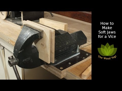 How to make Soft Jaws for a Metal Vice  / Vise - Woodworking project