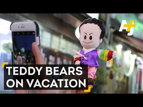 Japanese Travel Takes Teddy Bears On Vacation