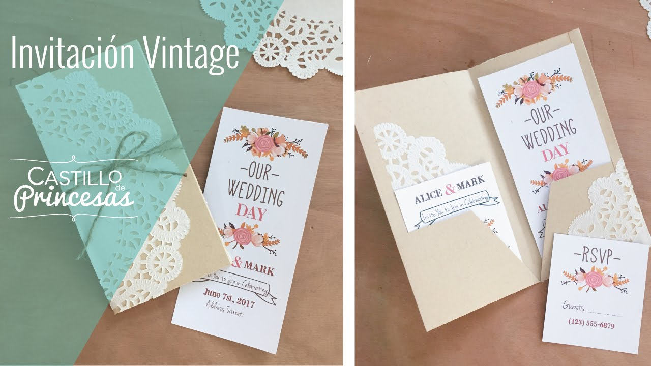 Diy Tutorial Invitación Vintage