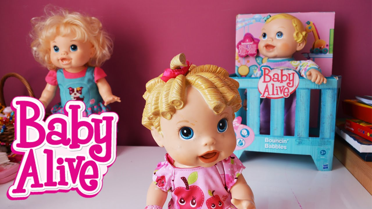 3 Baby Alive Dolls Learns To Go In Bed Eating Baby