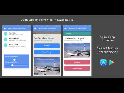 Moving Beyond Animations to User Interactions at 60 FPS in React