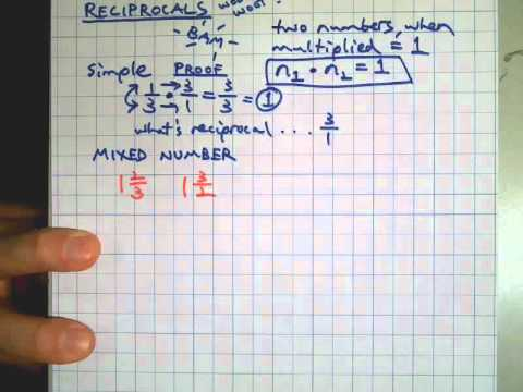Reciprocals, Including Mixed Numbers And Decimals