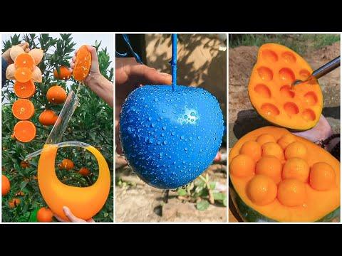 😍Farm Fresh Ninja Fruit | Tik Tok China | (Oddly Satisfying Fruit Ninja) #49