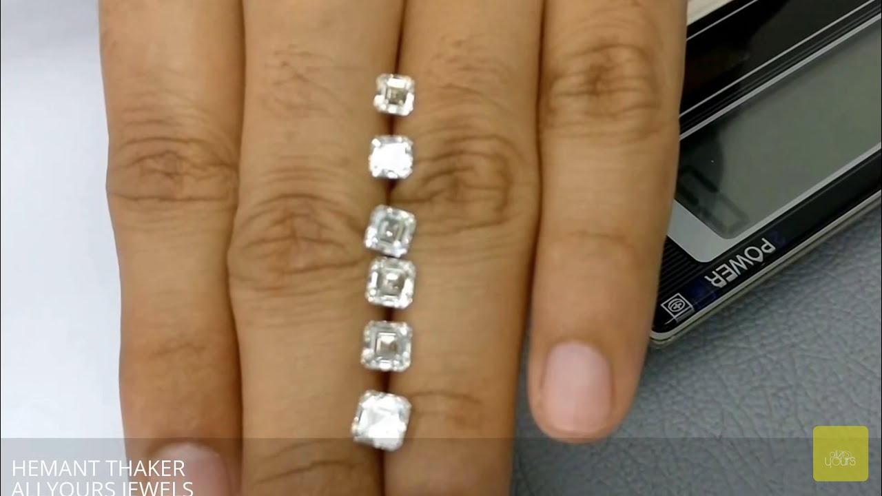 Sq emerald diamond size comparison on hand ct upto ct also youtube rh
