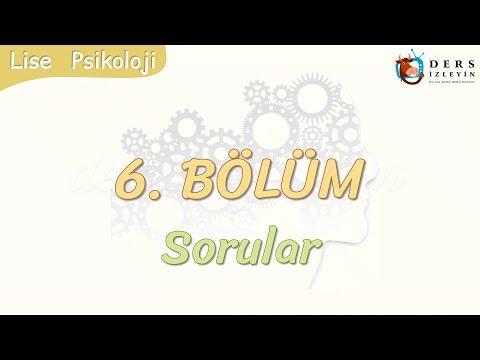 6. BÖLÜM / SORULAR