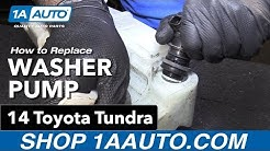 How to Replace Washer Pump 14-19 Toyota Tundra