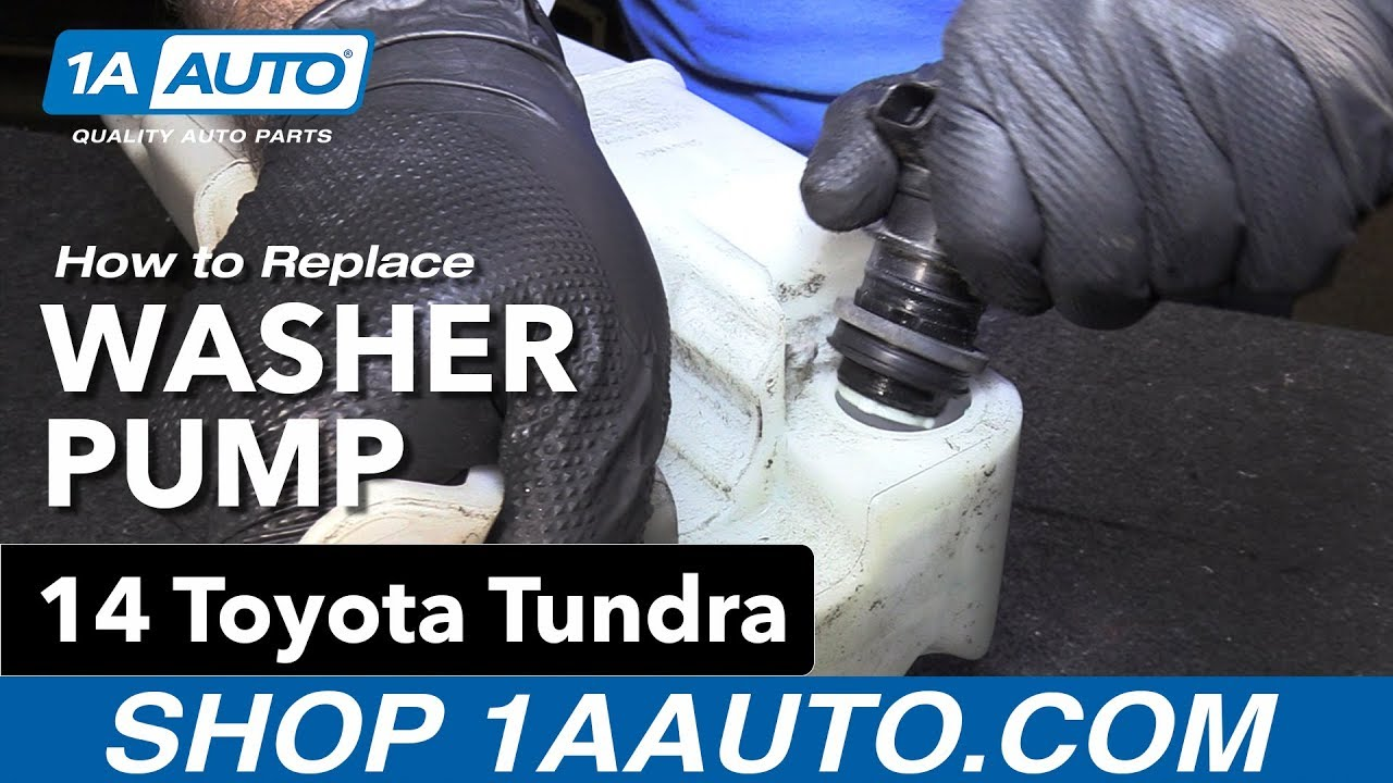 How To Replace Install Washer Pump 14 Toyota Tundra 2014 Avalon Wiring Diagram