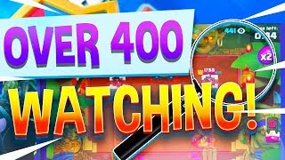 OVER 400 SPECTATORS?? Clash Royale Rascals Challenge!
