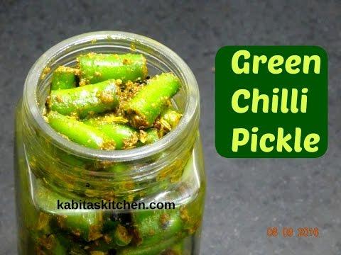 Green Chilli Pickle Recipe | Hari Mirch ka Achar | Instant  Achar | Pickle Recipe by kabitaskitchen