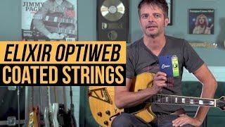 Elixir Optiweb E-Gitarre Light 10-46 Saiten Satz Guitar Strings Set 19052