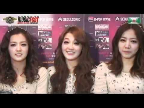 [CLIP/120321] A Pink Interview @ Canada 2K12 Korea Night
