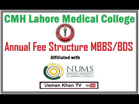 MBBS/BDS Annual Fee in CMH Lahore Medical College (NUMS)