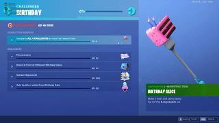 Fortnite 2nd Birthday Challenges | Free Items