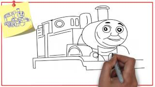 How To Draw Thomas The Train For Kids Easy?