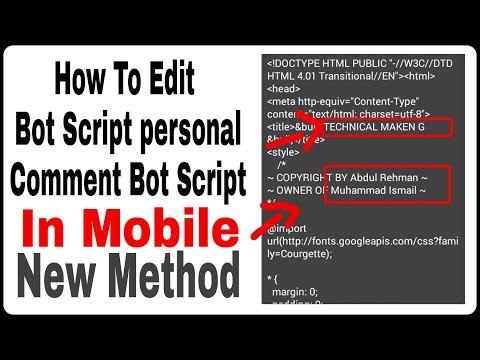 How to edit bot script for personal bot in Mobile in hindi