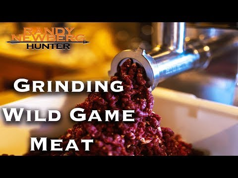 Grinding Wild Game Meat