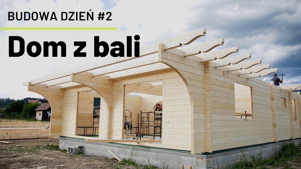Download Budowa domu z bali - dzień 2   Dom z drewna w trakcie budowy