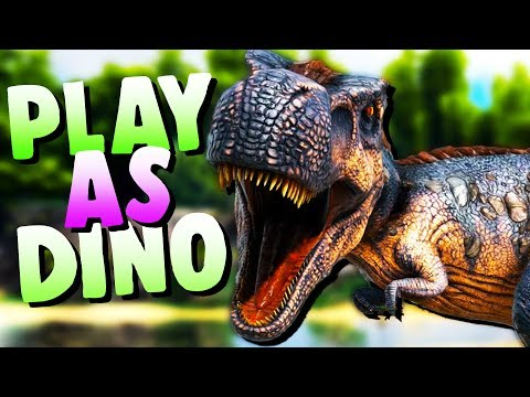 GIANT T-REX DINOSAUR ATTACK and RAMPAGE! - Play As Dino Ark Mod - Feed and Grow Dinosaur