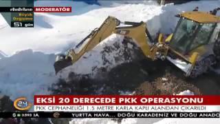 PKK'nın 1,5 metre kar altındaki cephaneliği böyle bulundu
