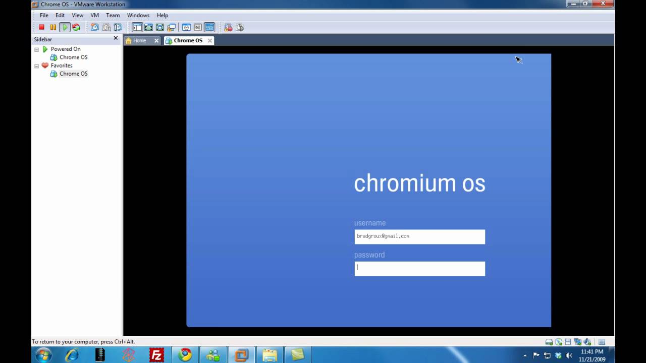 HD Install Google Chrome OS (Chromium) with VMWare Workstation on Windows 7  Desktop