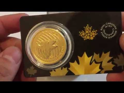 2016 Roaring Grizzly - Canadian Call of the Wild Series 1oz Gold Bullion Coin