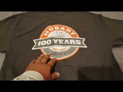Hobart Give Away Winner. Won A Nice Shirt. 100 Years Of Innovation