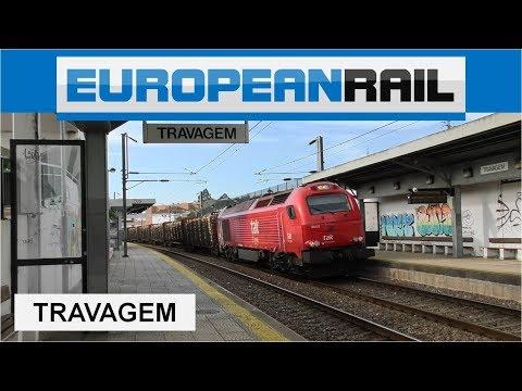 Takargo Rail Vossloh Euro Series 6000 Locomotive 6003 + Comboio Maderia - Estação de Travagem