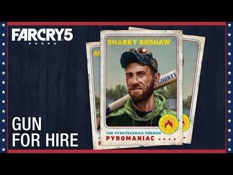 Far Cry 5 BURN, BABY, BURN Mission, Meeting Sharky, gun for hire
