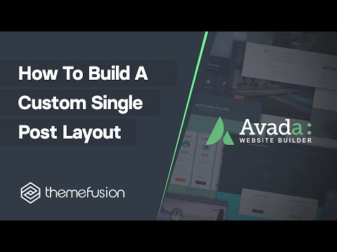 How To Build A Custom Single Post Layout Video
