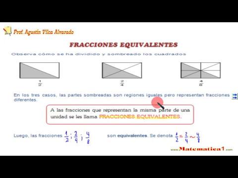 FRACCIONES EQUIVALENTES DE CUARTO DE PRIMARIA - YouTube