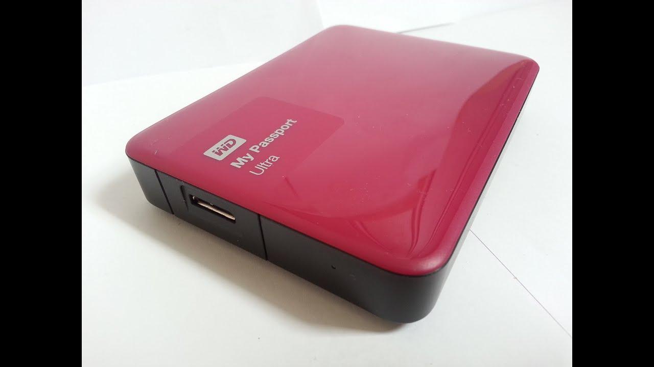 Wd My Passport Ultra Ii 2tb Wild Berry External Hard Drive