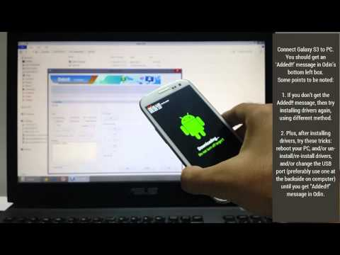 Samsung Galaxy S3 ClockworkMod Recovery Guide: Using Odin PC software [Very Easy]