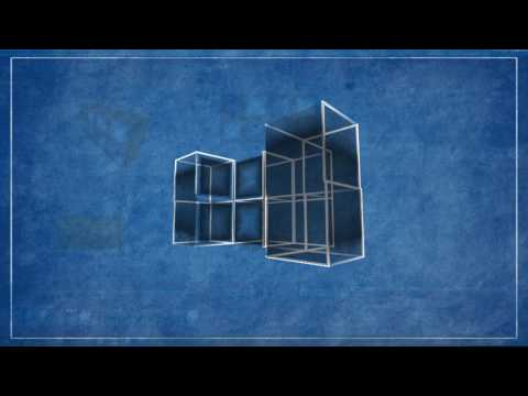 magic cube - blueprint style Cinema 4D + AE