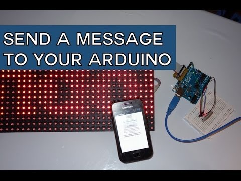Android App that Sends a Message to Your Arduino | Random