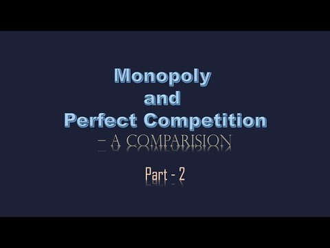 Monopoly and Perfect Competition   A Comparison   PART 2