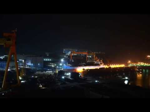 50,000 DWT Product Carrier loadout (time lapse) - 머스크 탱커.